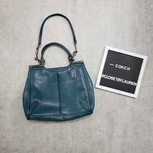 Coach Madison Caroline Leather Satchel Teal